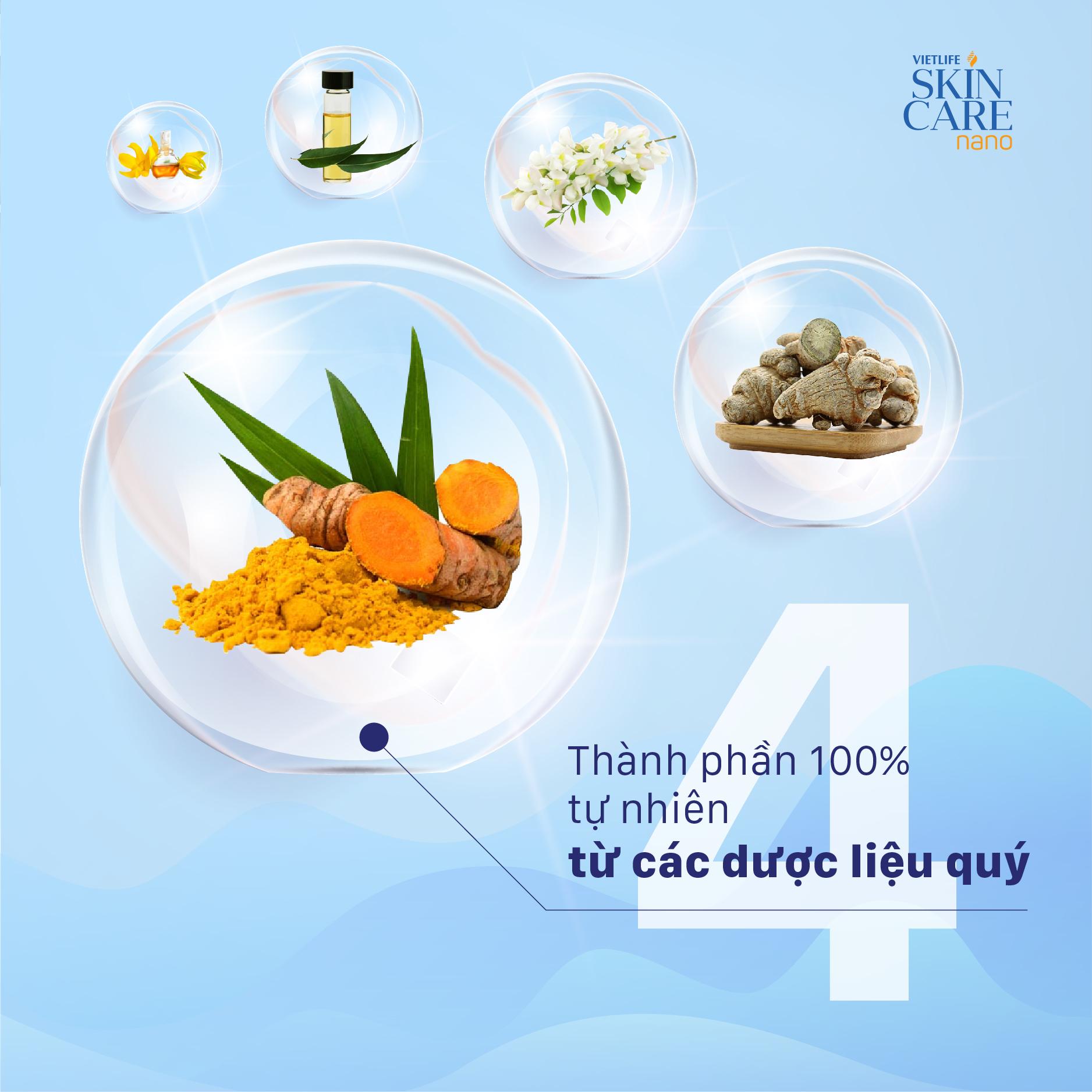 Thành phần Vietlife Skincare Nano & tác dụng chi tiết lên mụn, sẹo, thâm 4