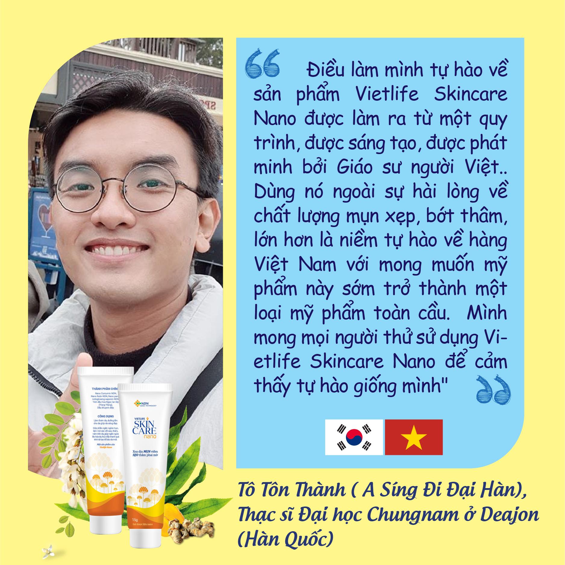 Điểm danh Vlogger du học sinh Hàn Quốc ủng hộ và tin dùng Vietlife Skincare Nano 1