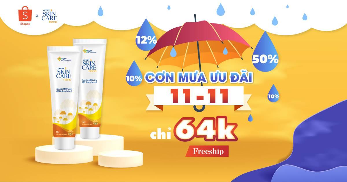 11-11 này, Săn deal Skincare Nano cực chất tại Shopee 1
